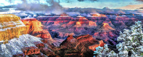 Painting - Grand Canyon Snow by Christopher Arndt