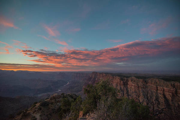 Desert View Tower Photograph - Grand Canyon Sunset 1943 by David Haskett II