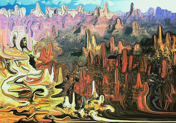 Painting - Grand Canyon Symphony - Modern Art by Peter Potter