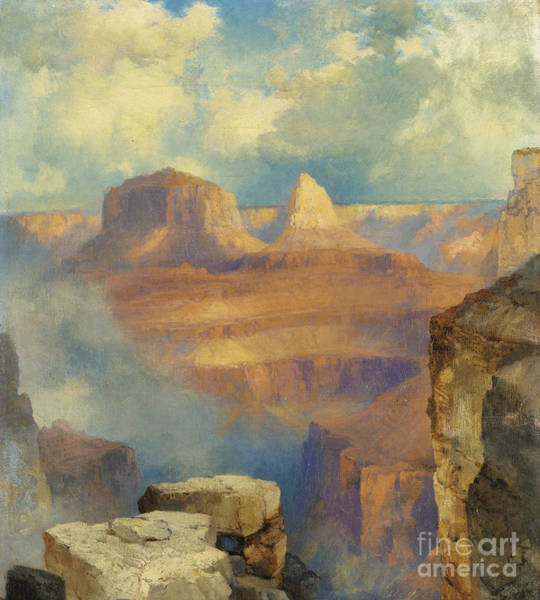 Atmospheric Painting - Grand Canyon by Thomas Moran