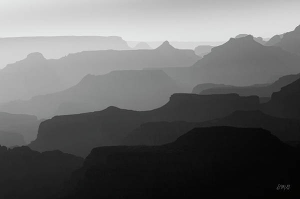 Photograph - Grand Canyon V Bw by David Gordon
