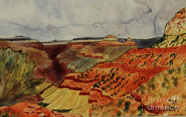 Wall Art - Painting - Grand Canyon View by Annette McGarrahan