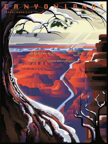 Arizona Digital Art - Grand Canyon Winter by Garth Glazier