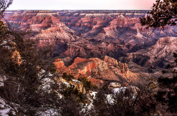 Grand Canyon Winter Sunrise Landscape At Yaki Point Art Print