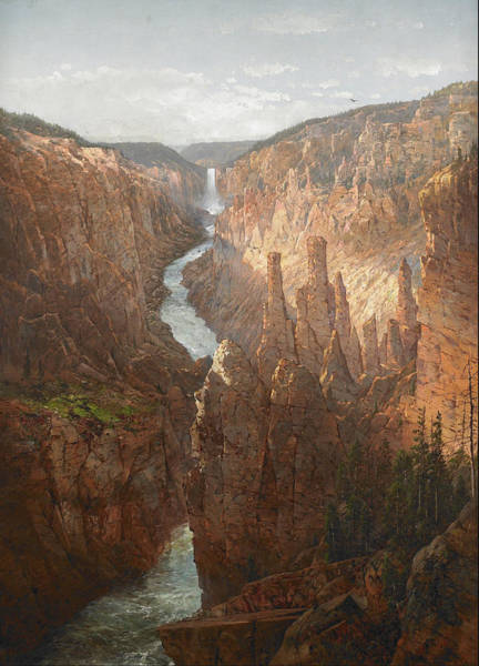Wall Art - Painting - Grand Canyon, Yellowstone River, Wyoming  by William Louis Sonntag Sr