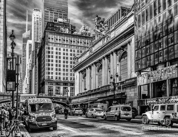 Photograph - Grand Central At 42nd St - Mono by Nick Zelinsky