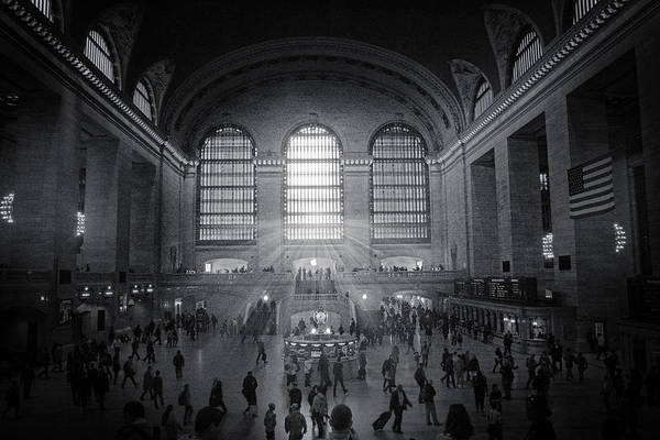 Grand Central Terminal Wall Art - Photograph - Grand Central Monochrome  by Jessica Jenney