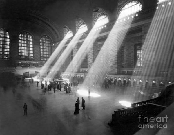 Beam Of Light Photograph - Grand Central Station Sunbeams by American School
