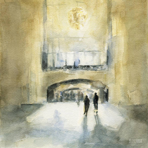 New Home Painting - Grand Central Terminal Light by Beverly Brown