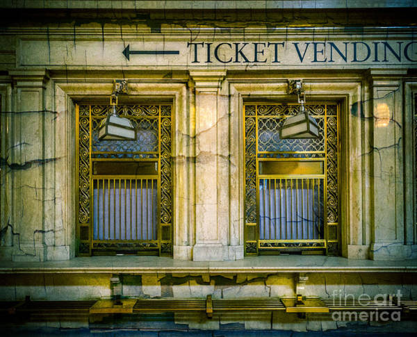 Wall Art - Photograph - Grand Central Ticket Windows  by Perry Webster