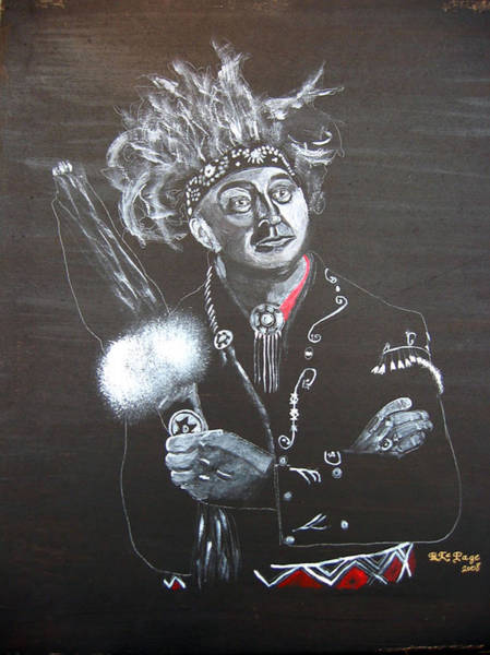 Painting - Grand Chief Max Gros-louis Of The Huron-wendat Nation by Richard Le Page