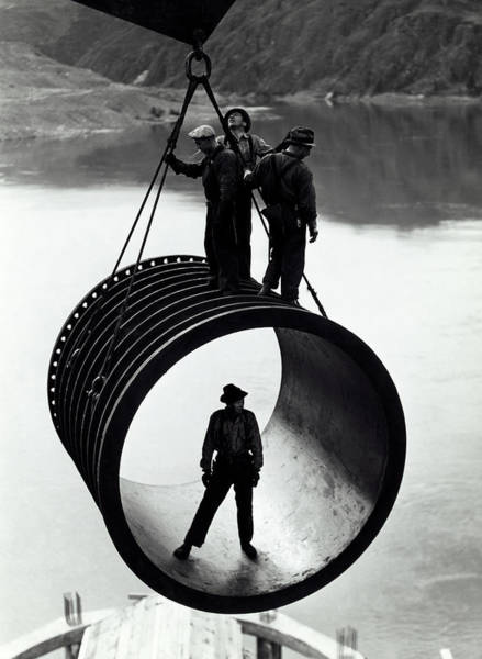 Wall Art - Photograph - Grand Coulee Dam Construction C. 1935 by Daniel Hagerman