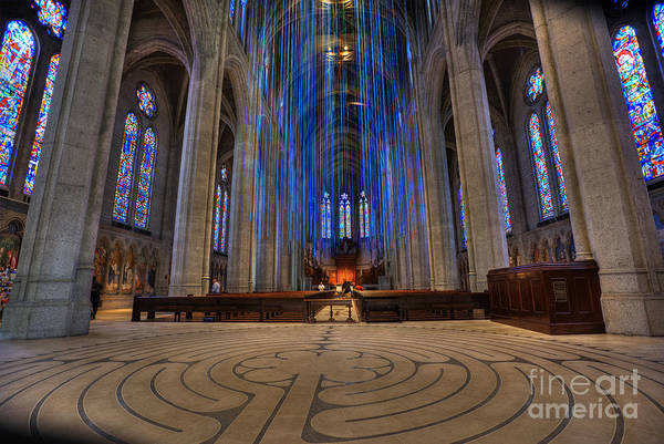 Grace Cathedral Photograph - Grand Entrance - Grace Cathedral by David Bearden