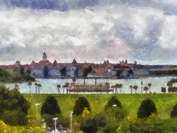 Town Square Mixed Media - Grand Floridian Resort Disney World by Thomas Woolworth