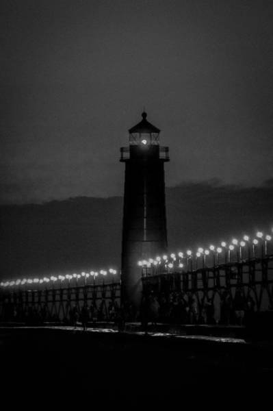 Great Lakes Region Wall Art - Photograph - Grand Haven Lighthouse  by Art Spectrum