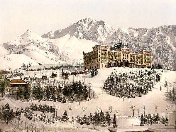 Painting - Grand-hotel De Caux by Celestial Images