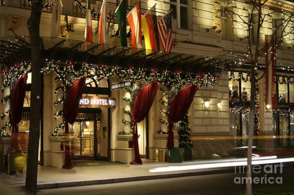 Photograph - Grand Hotel Vienna At Christmas by David Birchall