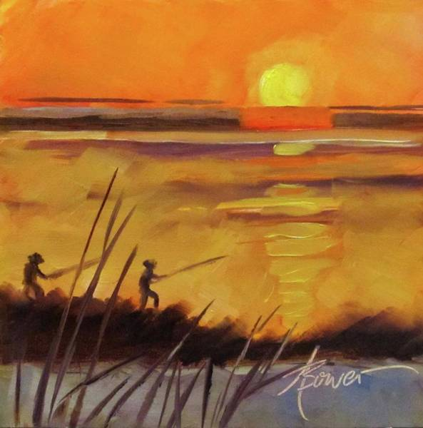 Painting - Grand Isle Fishermen by Adele Bower