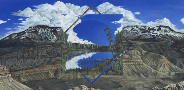 Grand Mesa Painting - Grand Mesa Polyscape by LE Williams