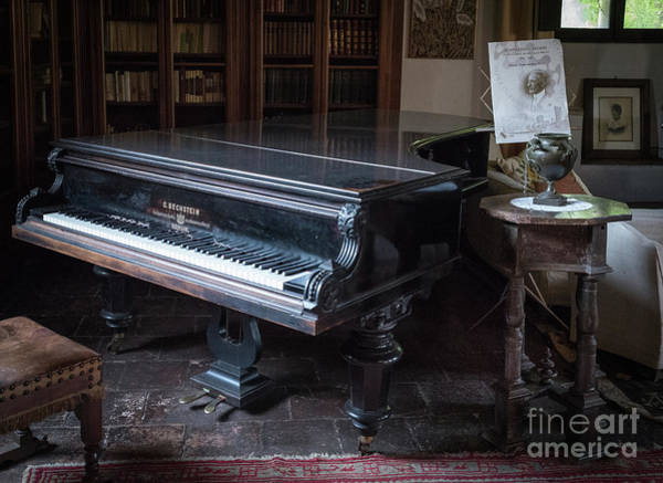Photograph - Grand Piano, Ninfa, Rome Italy by Perry Rodriguez