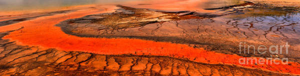 Yellowstone Caldera Photograph - Grand Prismatic Patterns by Adam Jewell