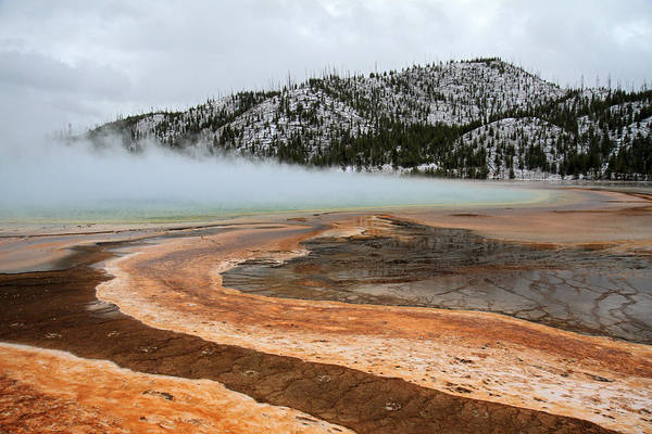 Photograph - Grand Prismatic Pool In Yellowstone National Park by Pierre Leclerc Photography