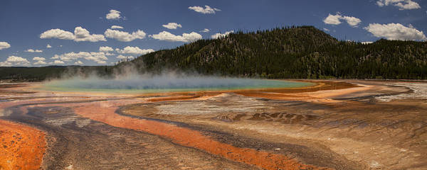 Montana Photograph - Grand Prismatic Spring by Andrew Soundarajan