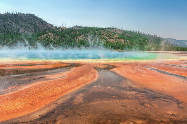 Photograph - Grand Prismatic Spring by John M Bailey