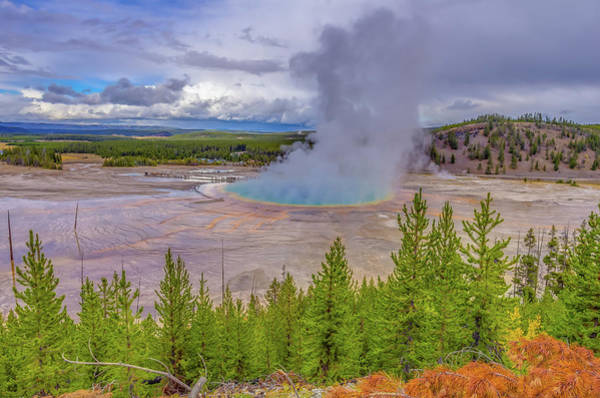 Photograph - Grand Prismatic Spring Overlook Yellowstone by Scott McGuire