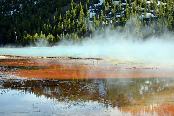 Photograph - Grand Prismatic Sunset by Bruce Gourley
