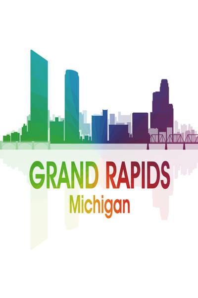 Digital Art - Grand Rapids Mi 1 Vertical by Angelina Tamez
