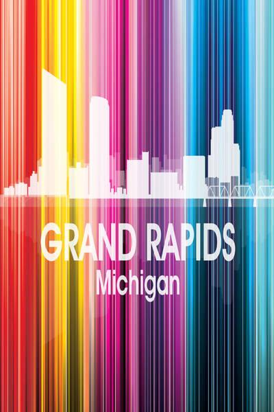 Digital Art - Grand Rapids Mi 2 Vertical by Angelina Tamez