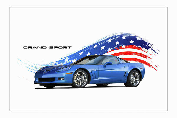 Wall Art - Digital Art - Grand Sport by Peter Chilelli