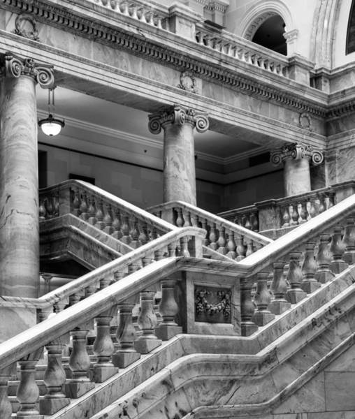 Photograph - Grand Staircase Detail #1 by TL  Mair