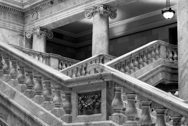Photograph - Grand Staircase Detail #2 by TL  Mair