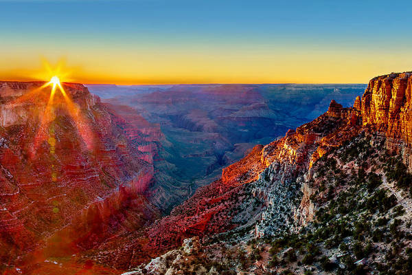 Rock Formation Photograph - Grand Sunset by Az Jackson
