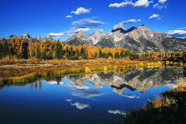 Schwabacher Photograph - Grand Teton Autumn Beauty by Vishwanath Bhat