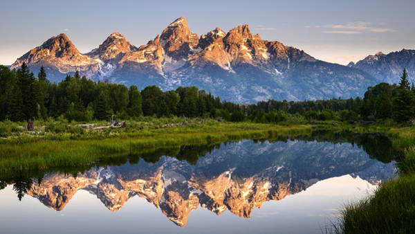 Schwabacher Photograph - Grand Teton Awakening by Dan Mihai