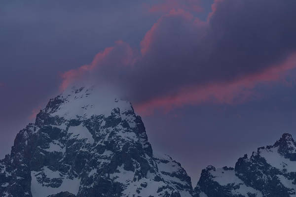Wall Art - Photograph - Grand Teton Cloud Stack by Mike Berenson