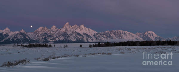 Wall Art - Photograph - Grand Teton Moonset II by Sandra Bronstein
