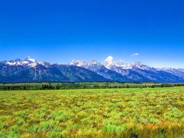 Photograph - Grand Teton Mountain Range by Ginger Wakem