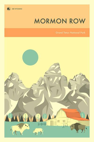 Grand Teton Wall Art - Digital Art - Grand Teton National Park - Mormon Row by Jazzberry Blue