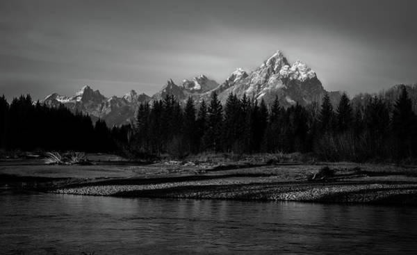 Photograph - Grand Teton Peak by TL  Mair