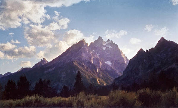Late Wall Art - Photograph - Grand Teton by Scott Norris