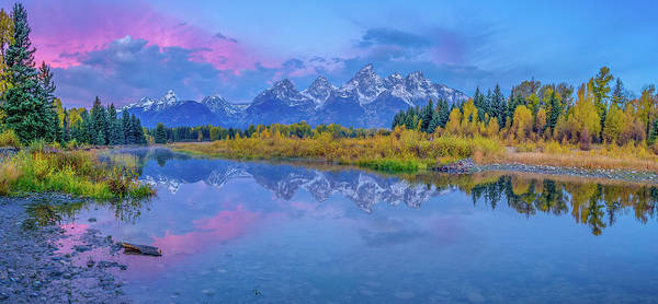 Wall Art - Photograph - Grand Teton Sunrise Panoramic by Scott McGuire