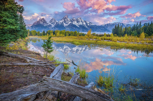 Schwabacher Photograph - Grand Teton Sunrise Reflection by Scott McGuire