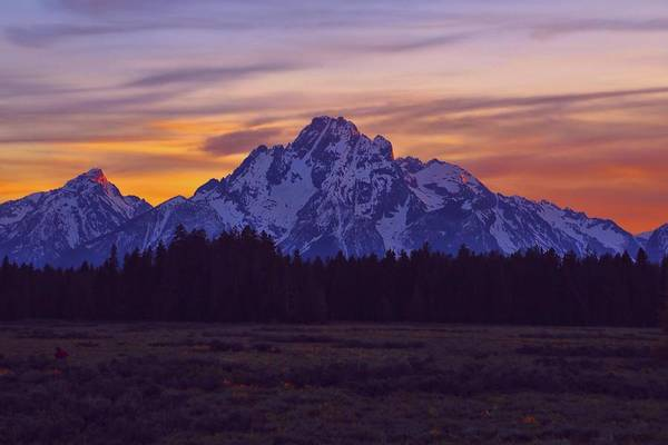 Photograph - Grand Teton Sunset Sky by Dan Sproul