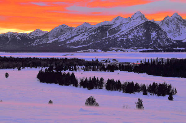 Wall Art - Photograph - Grand Teton Winter Sunset by Stephen  Vecchiotti