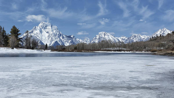 Photograph - Grand Tetons And Snake River From Oxbow Bend 16-9 by Belinda Greb
