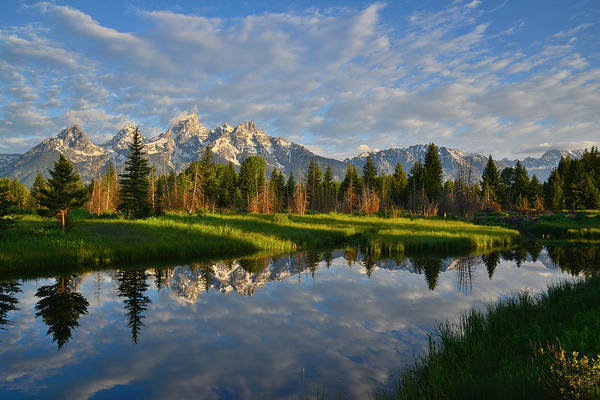 Photograph - Grand Tetons by Ray Mathis